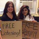 UC Davis students who listen to what people have to say for free.